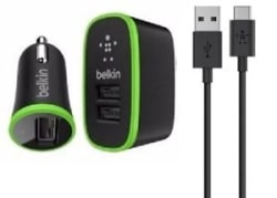 Belkin Home and Car Charging Kit with 4-Foot Micro USB Cable (2.1 Amp)