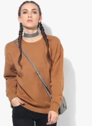 Camel Solid Sweatshirt