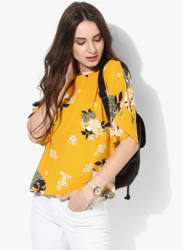 Yellow Printed Blouse