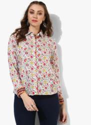 Shirt Collar Full Sleeves Printed Shirt With Cuff Detailing