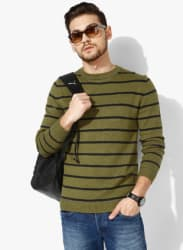 Olive Striped Sweater