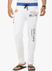 Solid White Track Pant