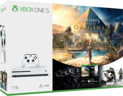 Microsoft Xbox One S 1 TB with Assassin s Creed Origins, Rainbow Six Siege White