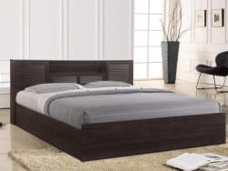 HomeTown Bolton Hydraulic Engineered Wood King Hydraulic Bed Finish Color - Wenge