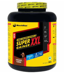 MuscleBlaze Super Gainer XXL 3 kg Chocolate Mass Gainer Powder