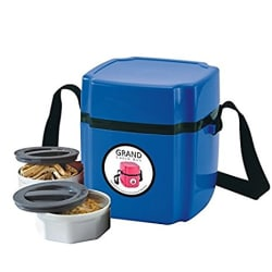 Go Hooked 2 Containers Lunch Box (BLUE)