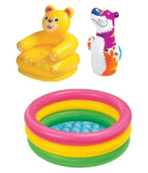 Intex Combo Teddy Chair & Pool With Hit Me Bop Bag