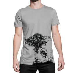 Original Design Eagle Skull Cross Polyester Printed T Shirts For Men Graphic Tee