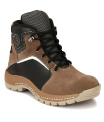 Kavacha High Ankle Brown Camping & Hiking Shoes