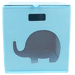 Miamour Elephant Fabric Storage Organizer, Blue