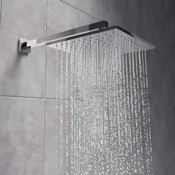 Prestige 6x6 Inches Ultra slim Shower Head with 12 Inches Square Shower Arm Water (Bathroom Accessories)