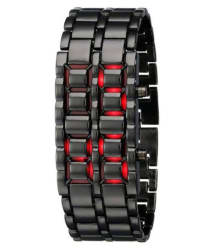 Meher Collection Black LED Bracelet Watch