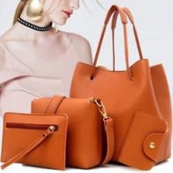 Women Handbags 4 Piece Set - Large Handbag - Shoulder Bag - Wallet - Card Holder