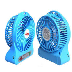 Details about 4 Inch Multi Functional Rechargeable Fan USB Mini Fan Portable With 3 Speed Mode