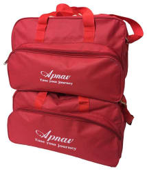 Apnav Polyester Travel Bag-red Set Of-2