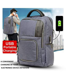 Tamo Hillary Branded Backpacks Laptop Bag with an in-built USB 2.0 Charging Port, Carry up to 15.6\