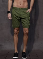 Olive Solid Shorts