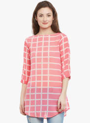 Pink Checked Tunic