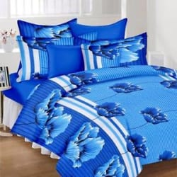 Exporthub 120 TC Pure Cotton Double Bedsheet,Bed sheets with 2 Pillow Cover