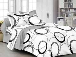 Homefab India 140 TC Cotton Double Bedsheet with 2 Pillow Cover - White(DBS253)