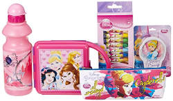 Disney Princess Cinderella back to School stationery combo set, 699, Multicolor