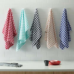 Shop By Room Kitchen Duster Wet Dry Cotton Cleaning Cloth / Mop 16 x 24 inch (Pack of 5) - Assorted Colour