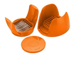 Amiraj Unbreakable Plastic Tomato Slicer, Orange