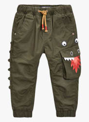 Khaki Lined Dragon Pull-On Trousers