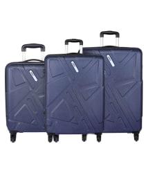 Safari Traffik Anti Scratch Combo Set of 3 Purple Small, Medium & Large Hard Luggage Trolley Bag