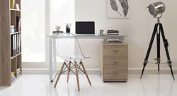 Urban Ladder Eddings Engineered Wood Study Table Free Standing, Finish Color - Natural Oak