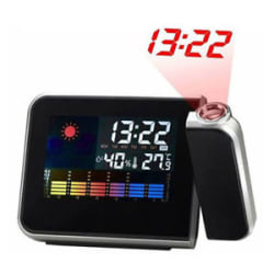Projection Alarm Clock Calendar Digital Weather Forecast LCD screen Snooze Alarm