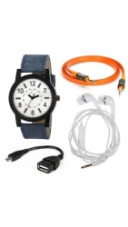 jack Klein High Quality Watch;With Free Earphone;Aux Cable And OTG