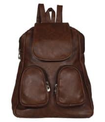 VIEW BAGS Brown beautiful pocket Backpack
