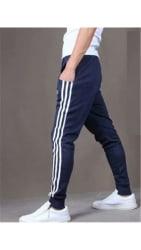 JOGGERS PARK Men Cotton Track Pants - Blue