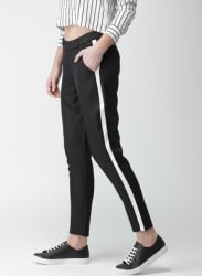 Black Solid Coloured Pants