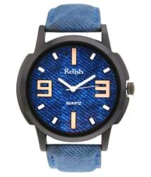 Crazeis Analog Blue Wrist Watch