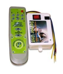 Neon Gate Switch Remote Control System For 5 Lights + 1 Fan Regulator (multi colour)