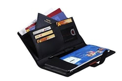 Coi Expendable Leatherette Cheque Book Holder/Document Holder (Ink Black)