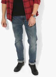 Blue Washed Low Rise Slim Fit Jeans (511)