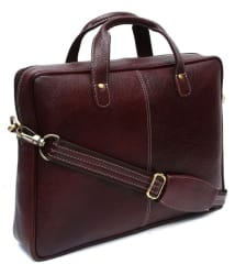 Golden Leaf ZS-15-LB Brown Leather Office Bag