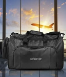 American Tousrister Black Polyester Travel Duffle Bag