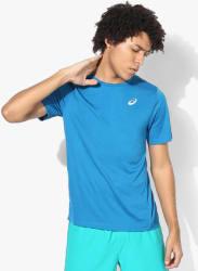 Running Blue Round Neck T-Shirt
