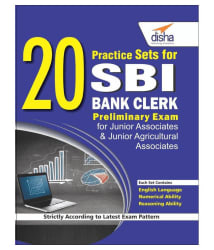 20 Practice Sets for SBI Bank Clerk Preliminary Exam Paperback English