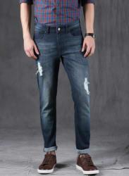 Blue Mid-Rise Slim Fit Jeans