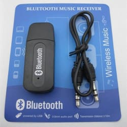 Car Bluetooth Receiver (USB) - Pair with Car Stereo, Music System, Home Theater System, Computer. Compatible with All Android & IOS Devices