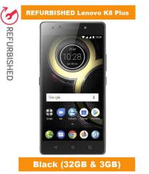 REFURBISHED Lenovo K8 Plus 32GB Black 3 GB 3 GB
