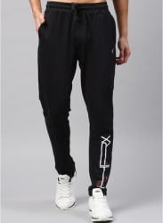 Black Solid Track Pant