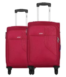 Safari Red M( Between 61cm-69cm) Check-in Soft BADGE 55/65 4W SET RED Luggage