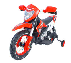 Toyhouse Scrambler Motorcycle Rechargeable battery operated Ride-on for kids,Red
