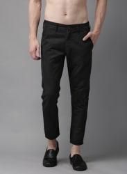 Black Slim Fit Solid Chinos